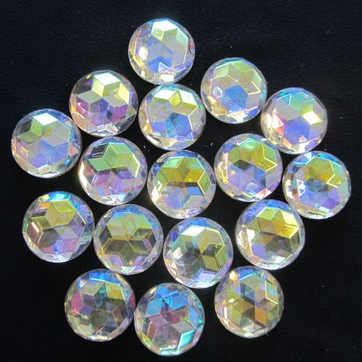 Round Crystal AB 17mm