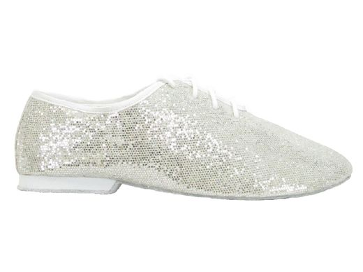 SoDanca Jazz Shoe silver glitter
