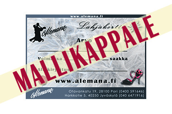 Alemana gift voucher to shops and exhibitions