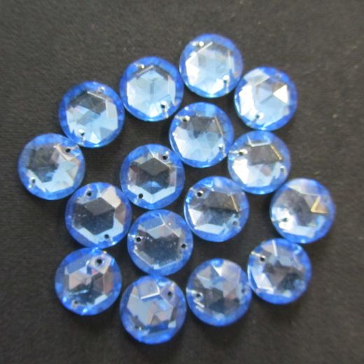 Round Light Blue 13mm