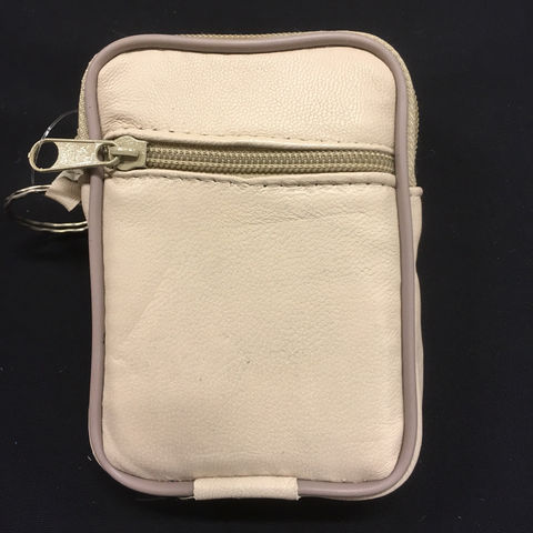 Light beige wrist wallet