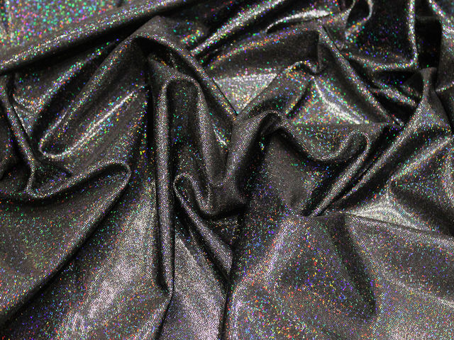 Black hologram lycra